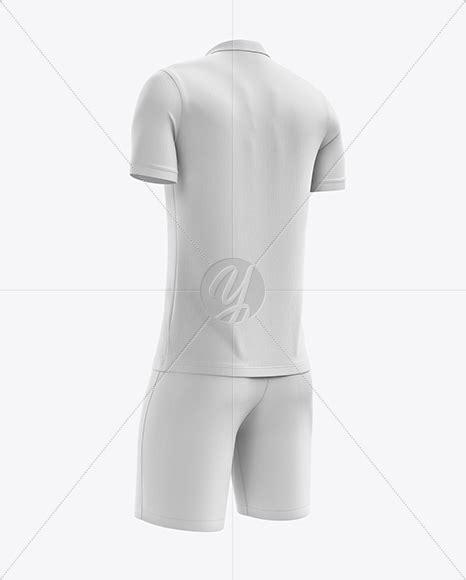 Cuffed soccer cleats mockup (half side view) by alex tsepelev in apparel mockups. Men's Soccer Polo Kit mockup (Back Half Side View) in ...
