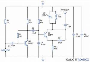 Fm Transmitter Circuit Using Transistors