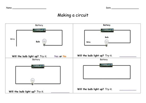 electricity worksheet year  teaching resources