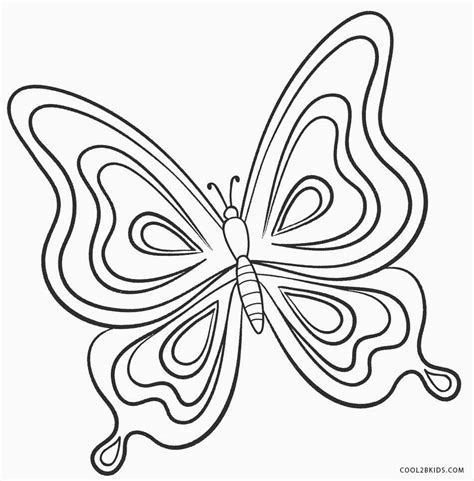 butterflies coloring pages printable butterfly coloring pages for cool2bkids