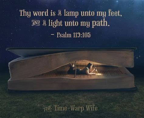 thy word is a l unto my scripture psalm 119 105 for the bible tells me so