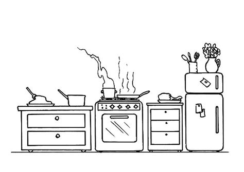 kitchen coloring pages coloring pages