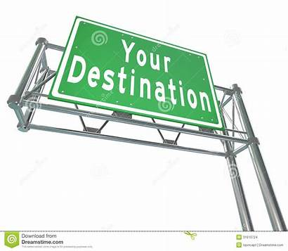 Destination Sign Desired Location Road Freeway Place