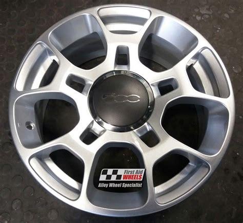 silver fiat   genuine alloy wheels set