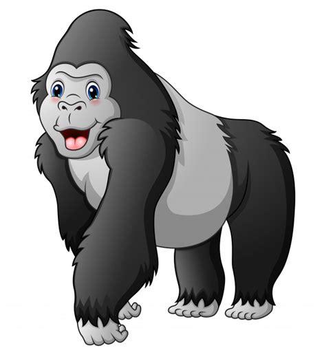 Gorila engraçado dos desenhos animados Vetor Premium