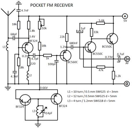 Receiver Circuit Using Transistor Eleccircuit