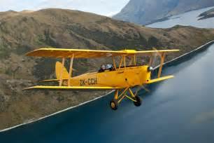 Pilot Open Cockpit Biplane