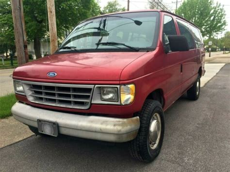 best car repair manuals 1994 ford club wagon electronic valve timing 1994 ford e350 club wagon 15 passenger extended maxi van w only 29 080 miles for sale photos
