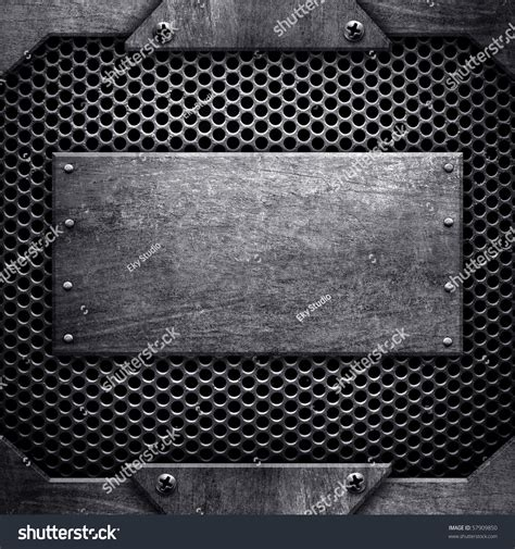 metal template template of metal plate stock photo 57909850