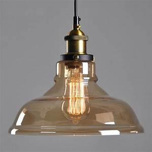 Lampe Style Industriel : abat jour en verre style industriel vintage pour lampe abat jour en verre style campagne pour ~ Teatrodelosmanantiales.com Idées de Décoration