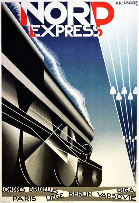 adolphe mouron cassandre original deco steam poster for nord express print for sale