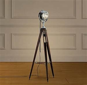 Restoration hardware spotlight tripod floor lamp copycatchic for Tripod spotlight floor lamp in teak wood