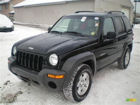 liberty jeep 2004 2004 black clearcoat jeep liberty sport 4x4 24588255