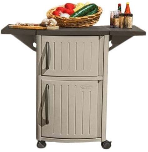 outdoor serving cart patio bar tray storage cabinet