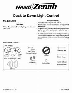 Dusk To Dawn Light Control 5403 Manuals