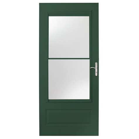 emco 400 series door emco 32 in x 80 in 400 series forest green self storing