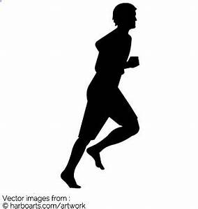 Download : Man running Silhouette - Vector Graphic