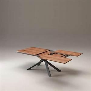 Table Bois Metal Extensible : table design extensible rectangulaire en bois et m tal 4x4 4 ~ Teatrodelosmanantiales.com Idées de Décoration