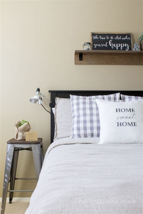 industrial farmhouse guest bedroom makeover  inspired
