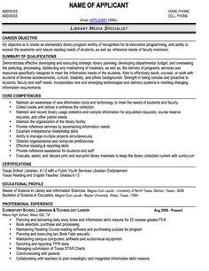 librarian resume sle resumecompanion