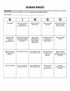 human bingo scavenger hunt template classroom With human bingo template