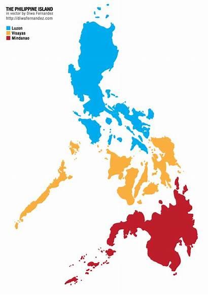 Philippine Philippines Map Vector Island Mindanao Islands