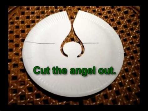 craft ideas  christmas angel   paper plate