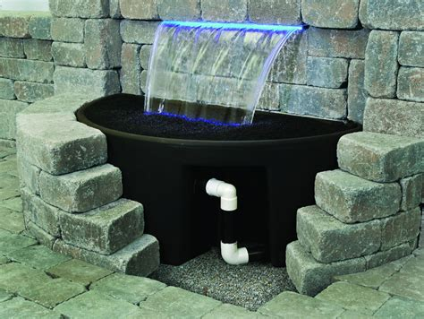 wall outdoor fountains with lights new lighting wonderful