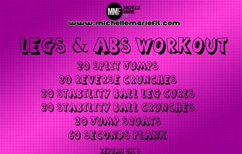 legs abs workout  women michelle marie fit