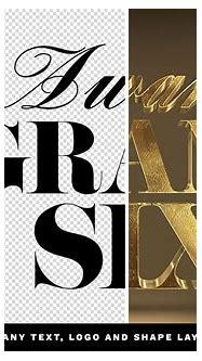 3d Gold Logo Mockup Psd Free Download
