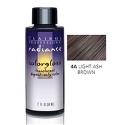clairol radiance color gloss clairol radiance color gloss 4a light ash brown 2 oz