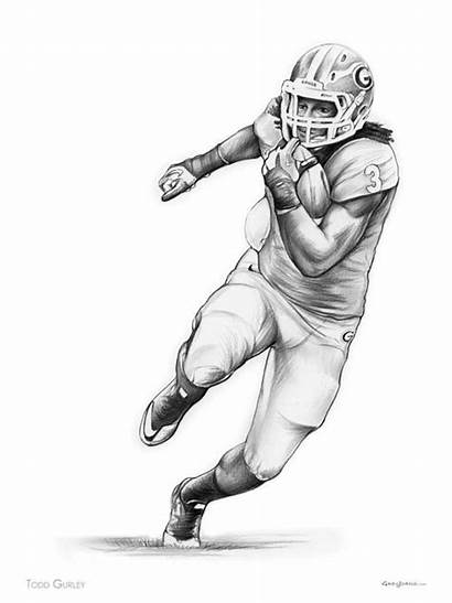 Todd Gurley Football Drawing Drawings Sports Running