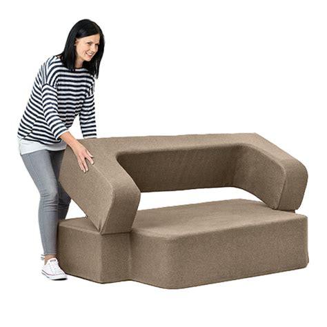 beige sofa and loveseat latte wool feel poppy easy fold out flip sofa bed foam