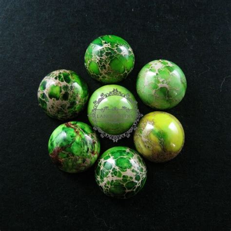 12mm grass green imperial cabochon