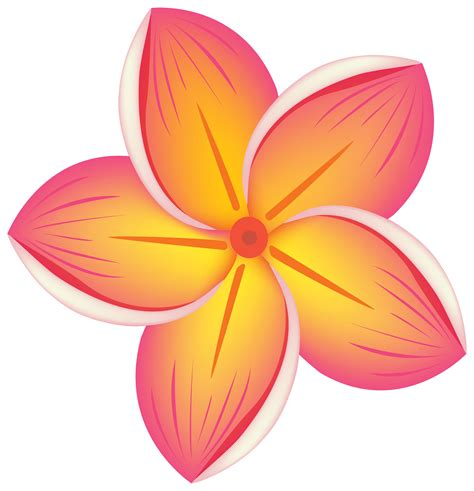 free flower clipart tropics clipart pretty flower pencil and in color