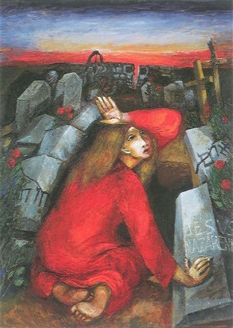 maria magdalena vor dem leeren grab katholische kirche