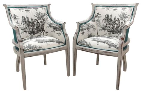 Hickory Chair Co. Bergères In Toile, Pr