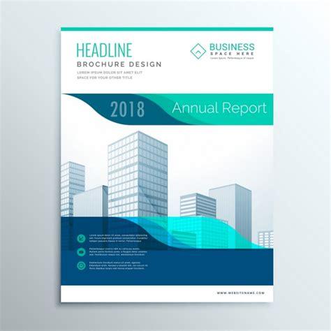 Corporate Blue Brochure Vector