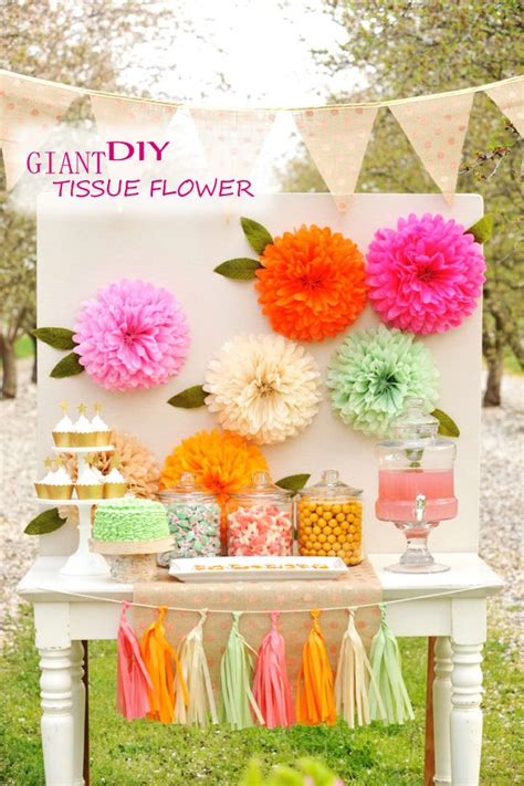 Diy Giant Tissue Flower  Cheap Unique Holiday Craft For