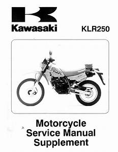Klr 250 Supplement Manual