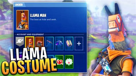 secret llama man  skin collect  loot llamas