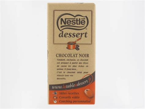 chocolat noir p 226 tissier dessert nestl 233 200 grs tablettes