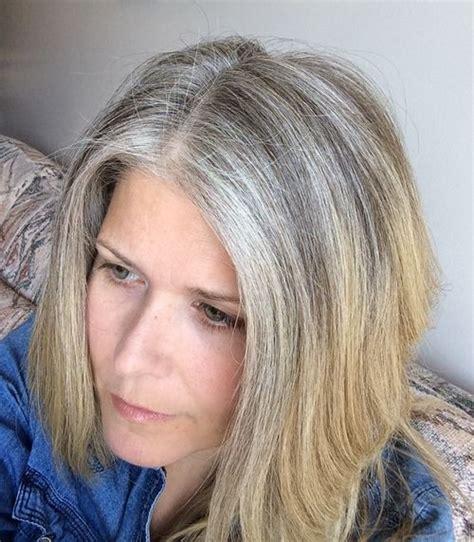 reasons  stopped coloring  hair april  gray hair