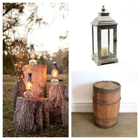 Rustic Wedding Decorating with Lanterns