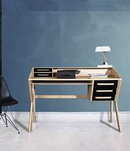 Meuble Tiroir Bureau : meuble bureau vintage structure bois tiroir noir mr marius ~ Teatrodelosmanantiales.com Idées de Décoration