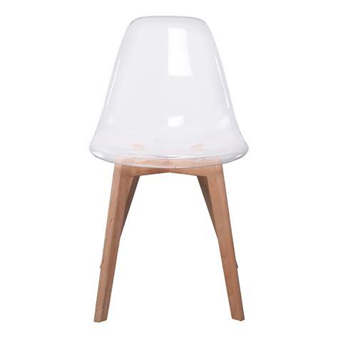 valet de chambre bois chaise scandinave coque transparente