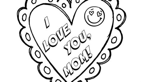 love  mom mothers day coloring page