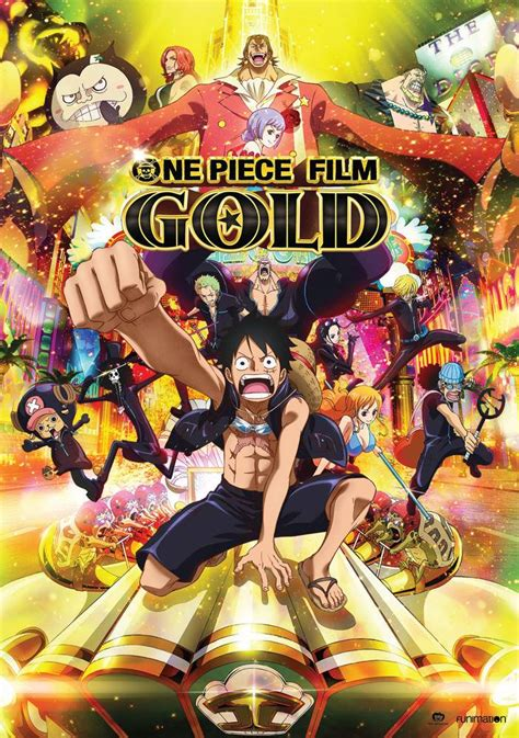 funimation entertainment  piece film gold dvd