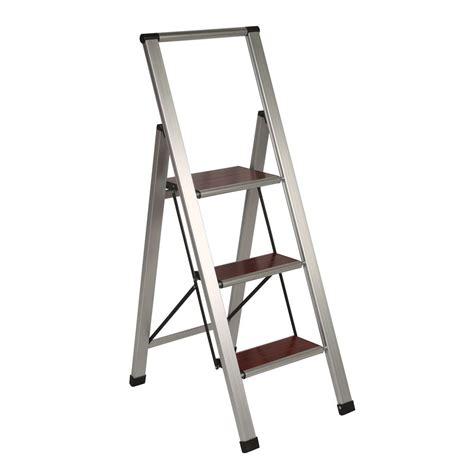 richards homewares  step brushed aluminum wood step