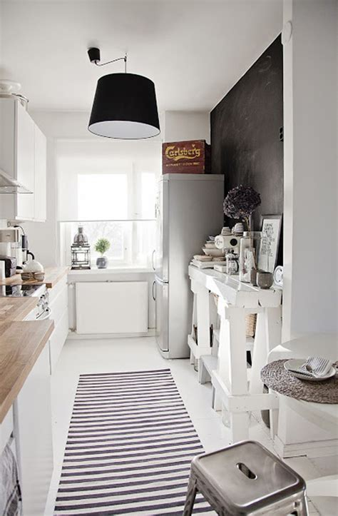 black  white scandinavian kitchen room